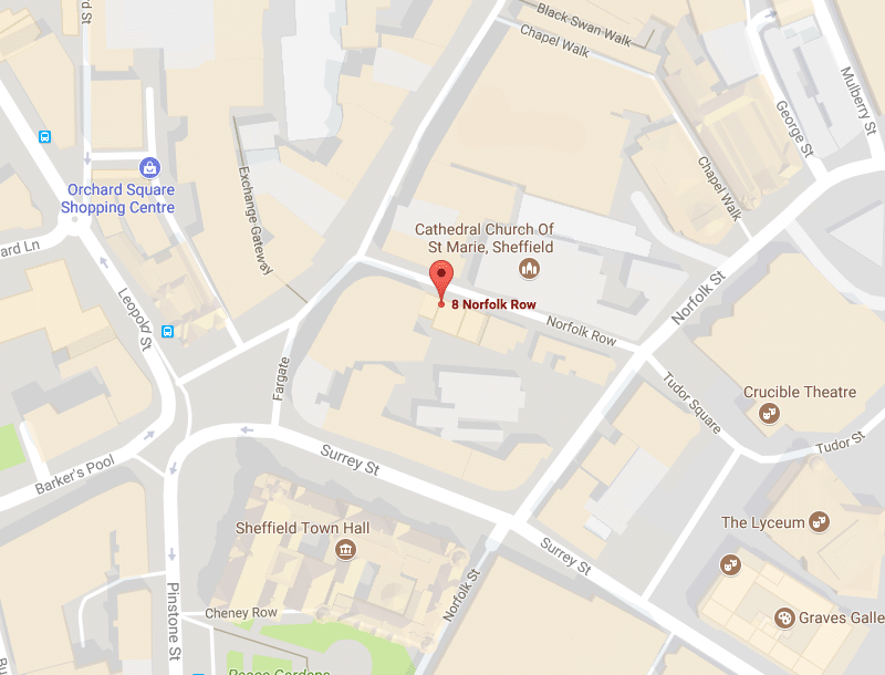 Sheffield office map